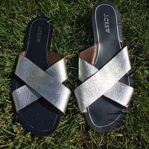 Authentic J. Crew Slip On Sandals